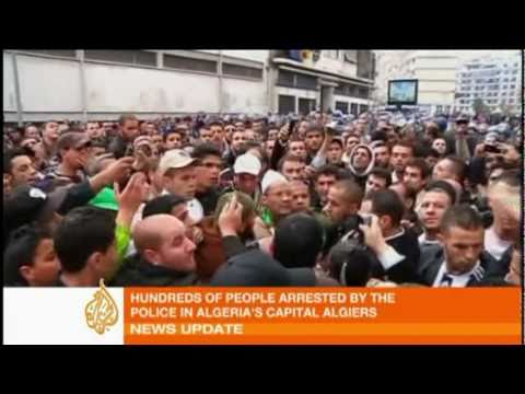 Algeria's police crack down on protesters