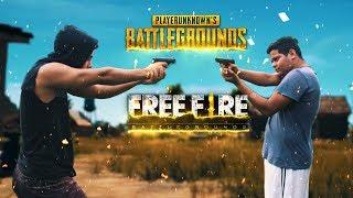 PUBG Vs Free fire - REAL LIFE