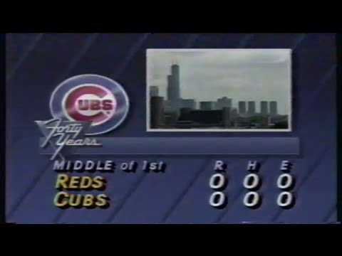 1988 MLB: Reds at Cubs 9/4/1988