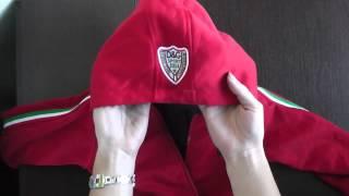 Видео обзор двухсторонняя детская  синяя куртка D&G