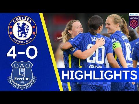 Chelsea 4-0 Everton |  Double washbasins Sam Kerr Everton |  The highlights of the women's Super League