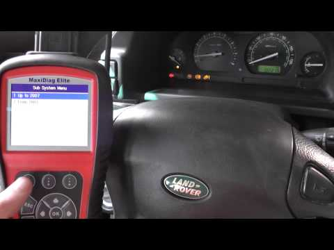 Autel MD802 Reset Land Rover ABS Warning Lights Freelander, Discovery, Range Rover