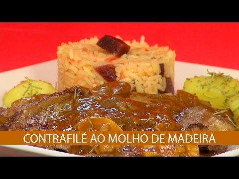 CONTRAFILÉ AO MOLHO DE MADEIRA