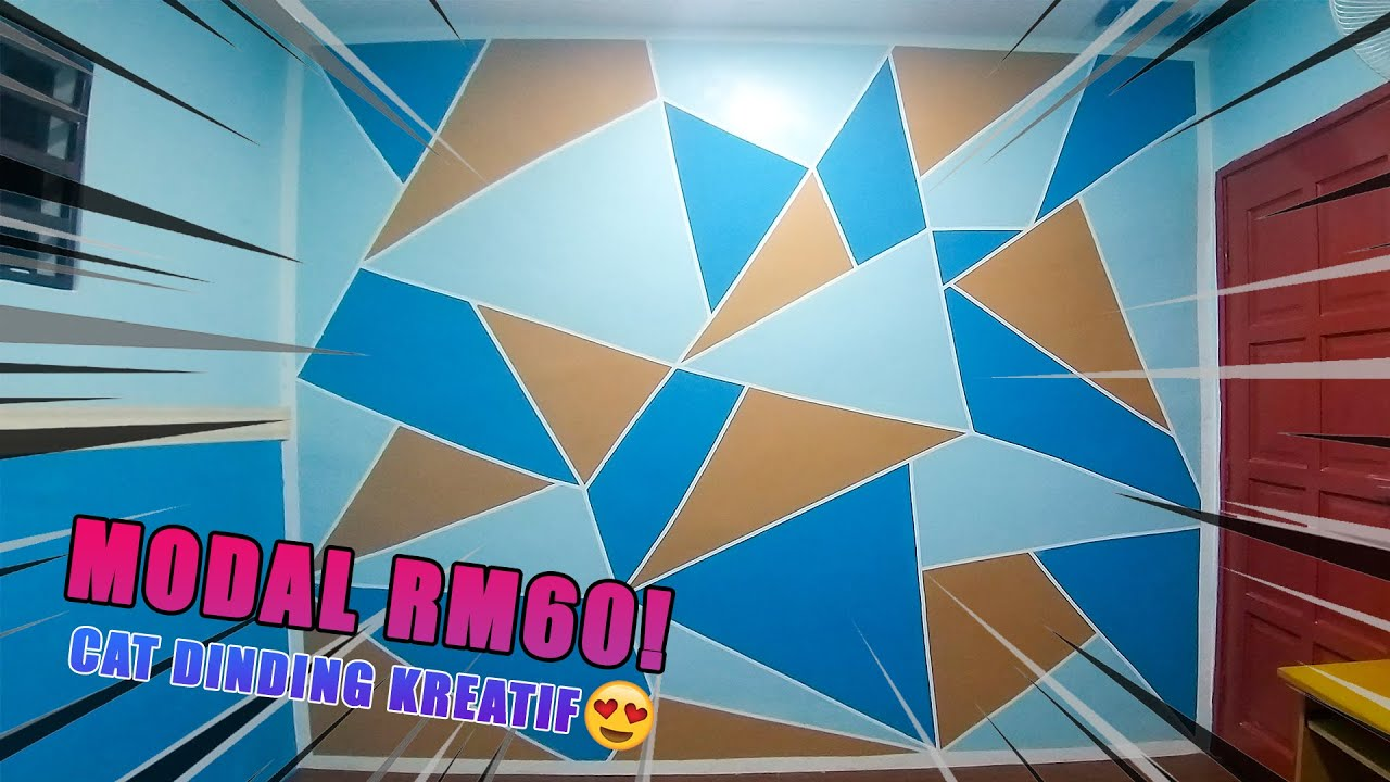 Tutorial Cara Cat Dinding Geometri Tutorial How To Make Geometry Painting Wall Diy Easy Way Youtube