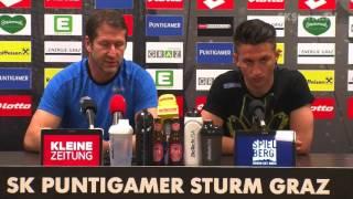 SK Sturm: Mediabriefing vor Wolfsberger AC (27. Runde 2016/17)