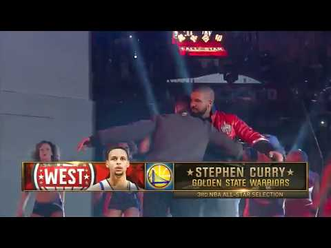 NBA 2016 All-Star Game Toronto - Player Introductions (starters And Bench) HD