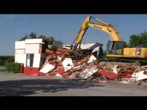 McDonald's Demolition In Less Than Five Minutes