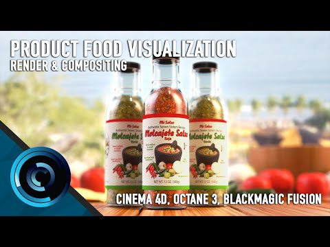 Vizualizing Food Product Renders Using Cinema 4D, Octane, and Fusion Part 1