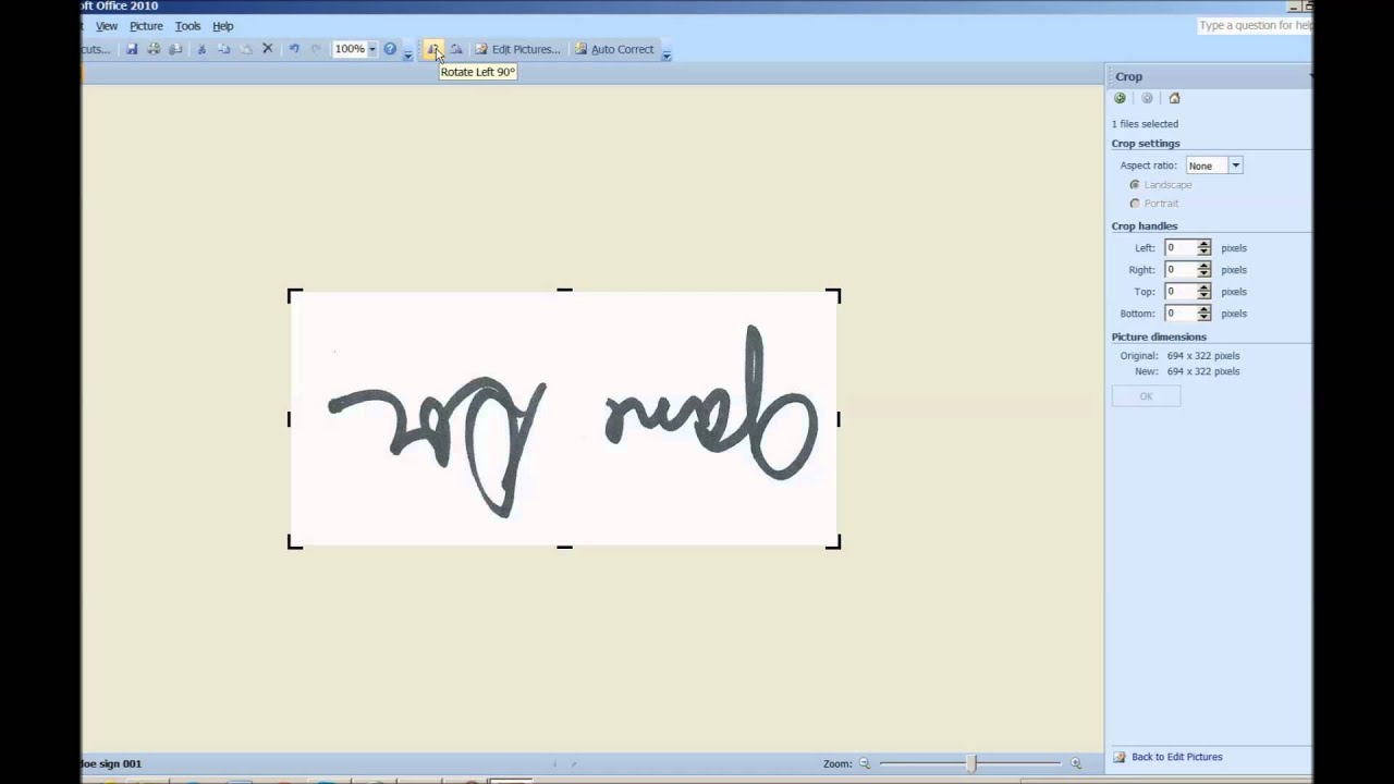 Create, Scan, change and insert signature perfectly into a document