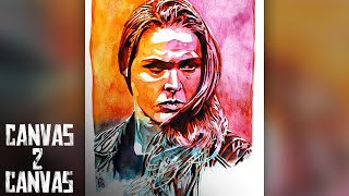 """""""Rowdy"""" Ronda Rousey debuts on the canvas: WWE Canvas 2 Canvas"""