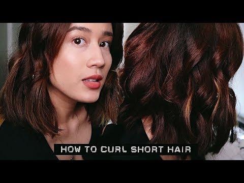 HOW TO CURL SHORT HAIR w/ A FLAT IRON | Karla Aguas