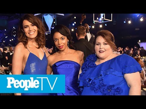 Susan Kelechi On Matching With Chrissy Metz & Mandy Moore In Blue Gowns At SAG Awards   PeopleTV