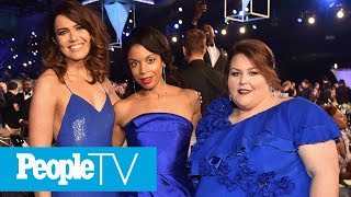 Susan Kelechi On Matching With Chrissy Metz & Mandy Moore In Blue Gowns At SAG Awards | PeopleTV