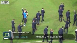 مصر العربية   لحظة نزول لاعبي صن داونز الى ملعب برج العرب