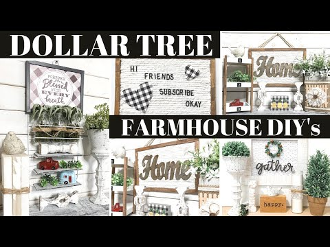 4 Dollar Tree Farmhouse Boho DIY's