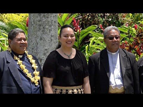 Presentation to HRH Princess Angelika Tuku'aho - 175th Anniversary - Catholic Church of Pea Village