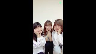 20190924 LINELIVE ふわふわ(兼次桜菜、平塚日菜、岩崎春果)