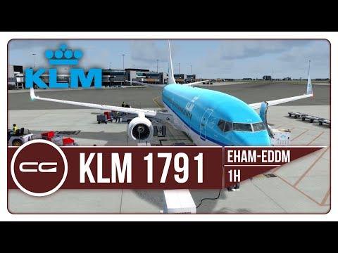 P3D v4 | EHAM (Amsterdam) - EDDM (Munich) | KLM1791 | PMDG 737-800NGX