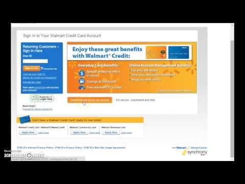 Walmart Credit Card Login