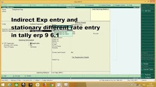 Friends in this video i will show you how to pass expenses entry tally erp 9 6.1 like telephone bill, courier charges and stationery (different g...