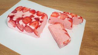 Освежающее Вкусно Без Мороженицы Обалденно ВКУСНЫЙ Клубничный ТОРТ Мороженое Ягодный сорбет