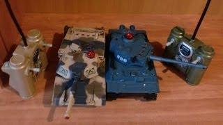 Танки на радиоуправлении. Модная детская игрушка Бой танков. Видео обзор(Узнать подробнее: http://c.gdeslon.ru/c/3230ee816e4fd3255812c8a89737432b9c6e29d0 В комплекте идут два танка на радиоуправлении. Стреляю..., 2013-12-17T11:10:44.000Z)