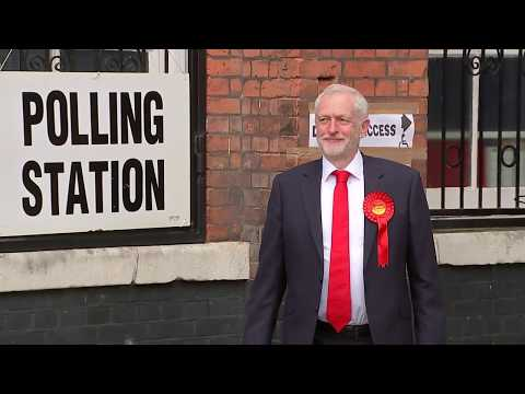 UK political party leaders vote in general election