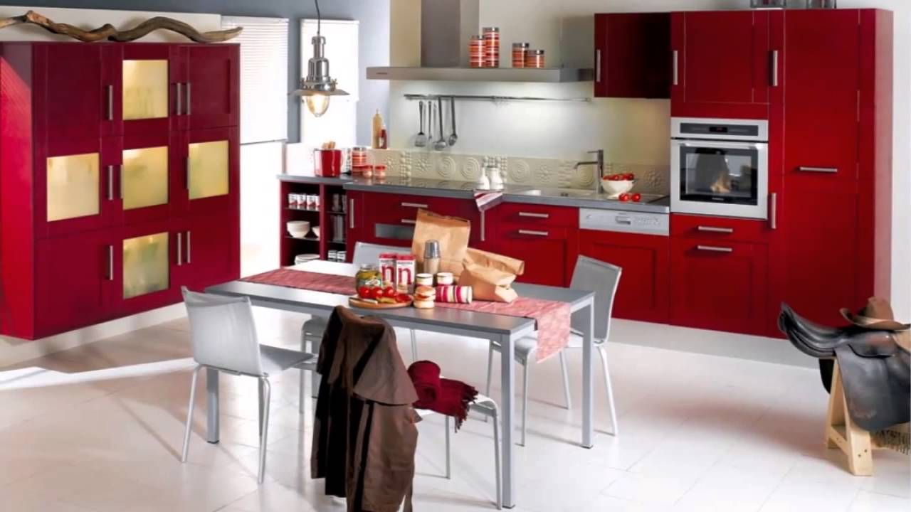Red Kitchen Red Kitchen Ideas Youtube