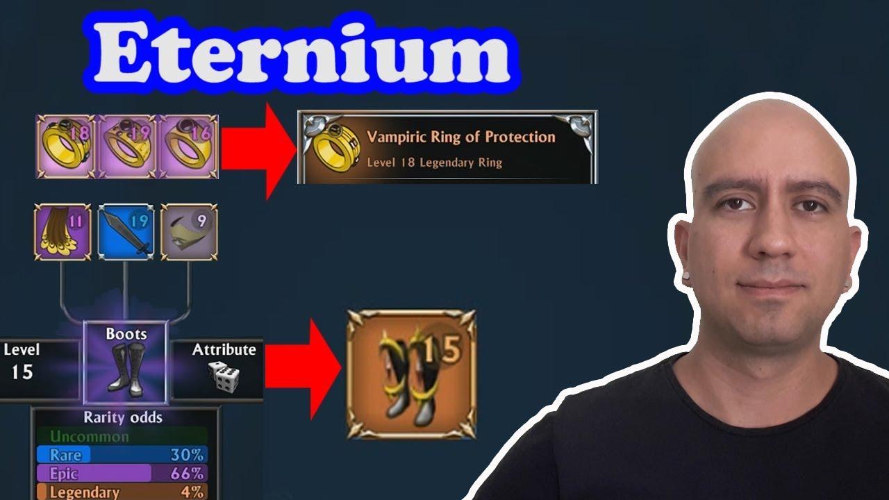 Eternium - criando anel e armadura lendária