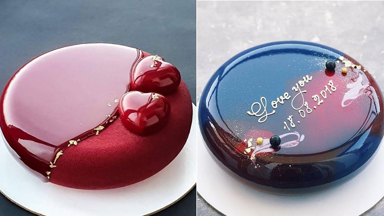 Most Satisfying Mirror Glaze Cake Decorating Compilation | Yummy Yummy | #GlazeCake