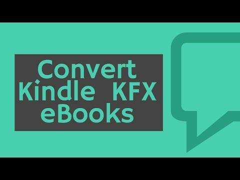 How to Convert KFX Books to EPUB/PDF/AZW3/Mobi