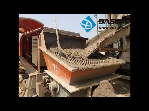 HBT Concrete Trailer Pump Working Video