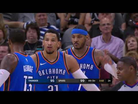Carmelo Anthony Highlights 20Pts vs San Antonio Spurs 18 11 2017