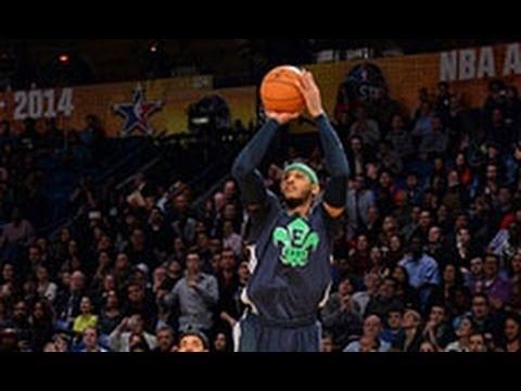 Carmelo Anthony Breaks an All-Star Record From Behind the Arc!
