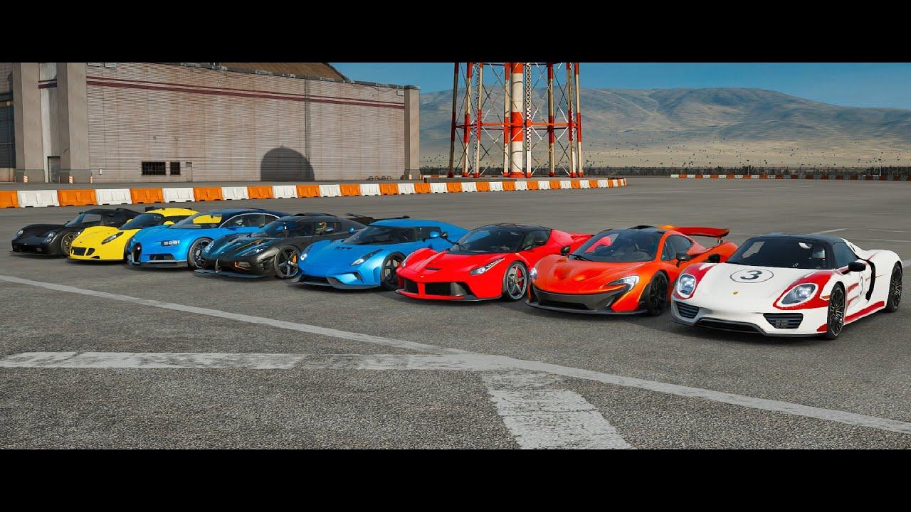 Forza 7 Drag Race | Chiron, One:1, Regera, Venom GT, P1, 918, LaFerrari & Ultima! | Hypercar Race!!!