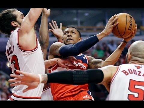 Game 1: Wizards beat Bulls 102-93! 2014 NBA Playoffs! Nene Scores 24 Points!
