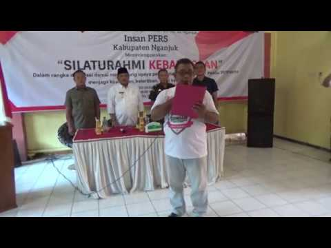 Wartawan Nganjuk Deklarasi Damai Sukseskan Pemilu demi Keutuhan NKRI-Nganjuk / Anjukzone