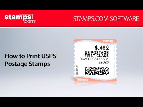 How To Print USPS Postage Stamps - Stamps.com Software