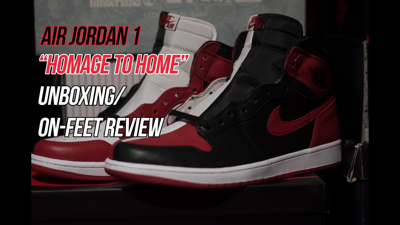 buy online 06506 ac0b6 Air Jordan 1 Homage to Home  Sneaker Unboxing and Review