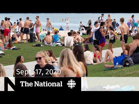CBC News: The National   Sept. 17, 2020   Ontario slashes gathering limits amid COVID-19 surge