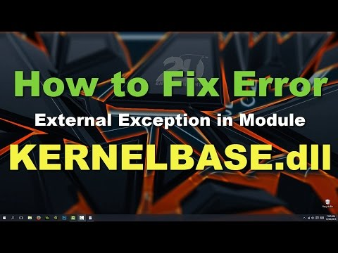 How to fix KernelBase dll Exception Error Windows 10 [Solved] - YouTube