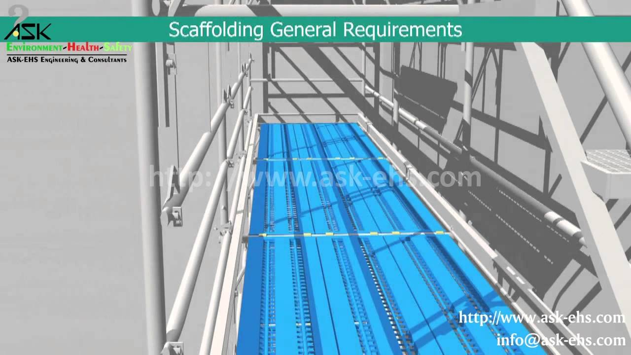 Scaffolding Erecting Procedure : General requirements for scaffolding safety erection and