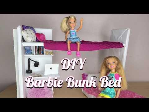 DIY Doll Bunk Bed - Doll Crafts