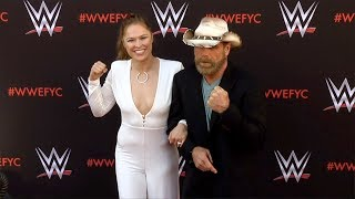 Ronda Rousey and Shawn Michaels WWE's First-Ever Emmy FYC Event Red Carpet