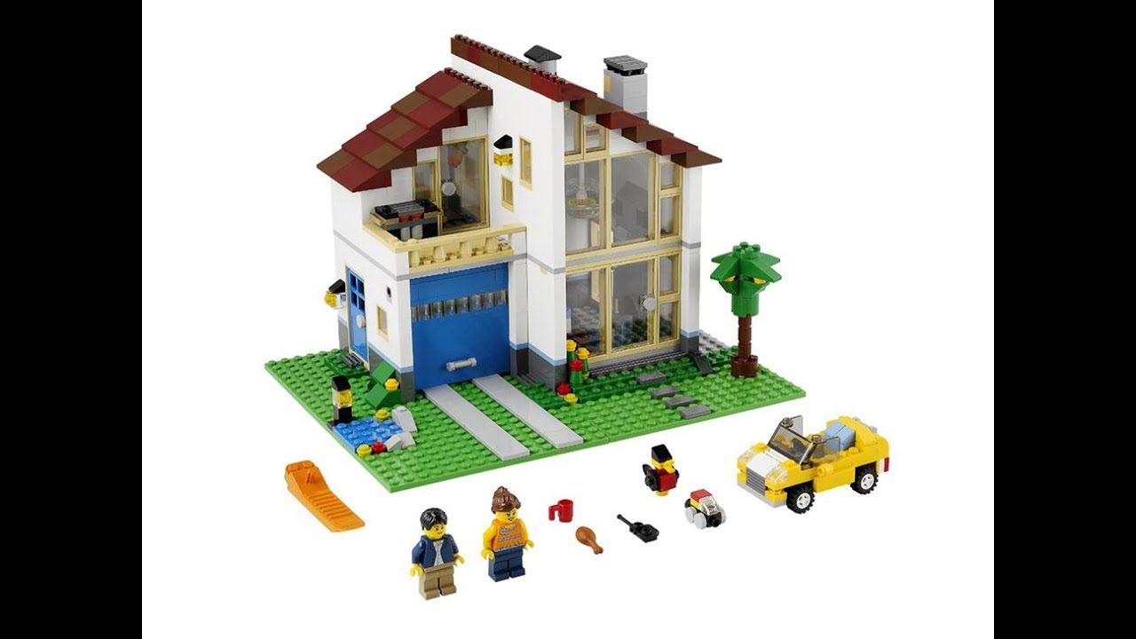 Lego creator casa familiar set 31012 youtube for Case lego city