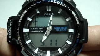 Casio SGW-450H-1AER налаштування годинника