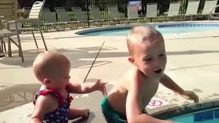 Top 10 Try Not To Laugh : Cute Babies Swimming | Funny Babies and Pets