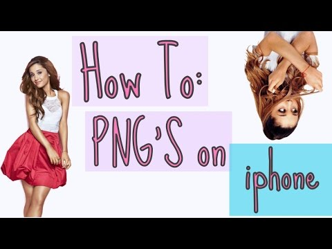 How To Make Transparents (PNG'S) on iPhone!