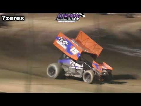 ascs wing sprint cars heat 2 Canyon Speedway park 5- 26- 2019