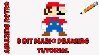 |Draw Super Mario characters|Draw 8 Bit Mario|How to draw Super Mario|